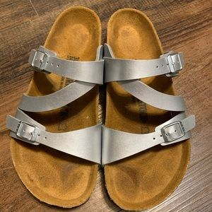 Birkenstock Silver Salina sandals